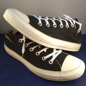 Unisex Black Converse Shoes, Sz M=7 W=9
